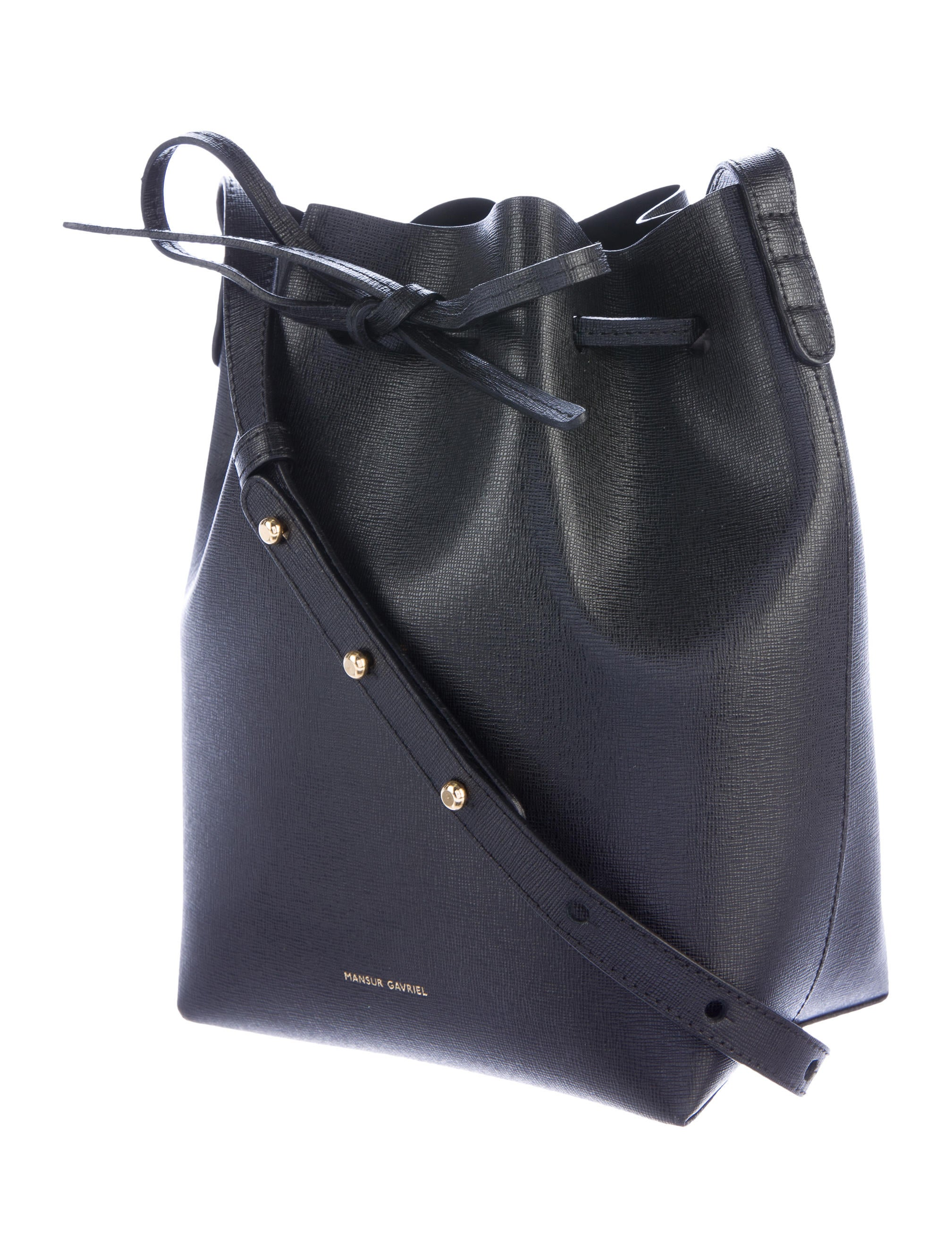 mansur gavriel leather bucket bag handbags wgy21154. Black Bedroom Furniture Sets. Home Design Ideas