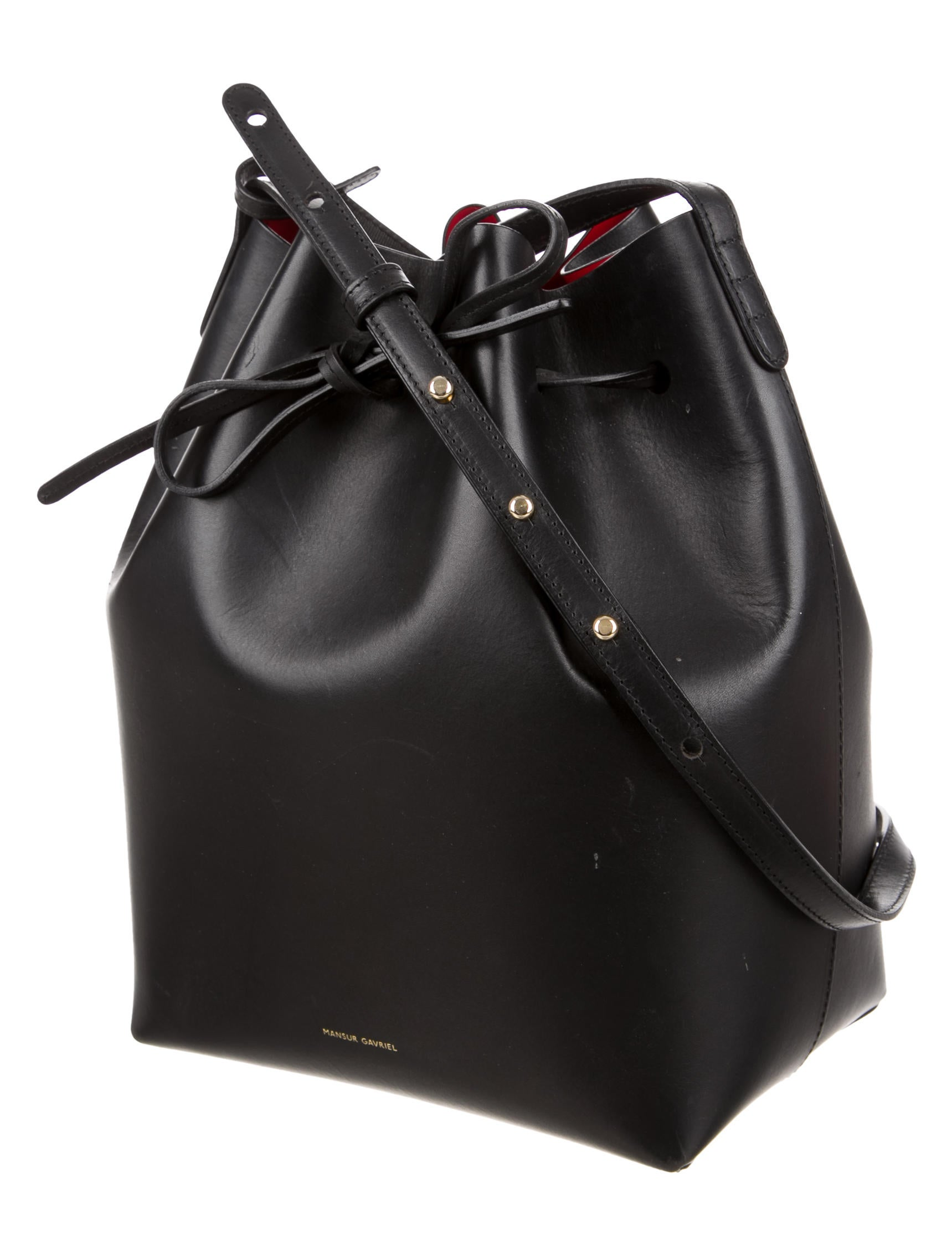 mansur gavriel bucket bag handbags wgy21256 the realreal. Black Bedroom Furniture Sets. Home Design Ideas