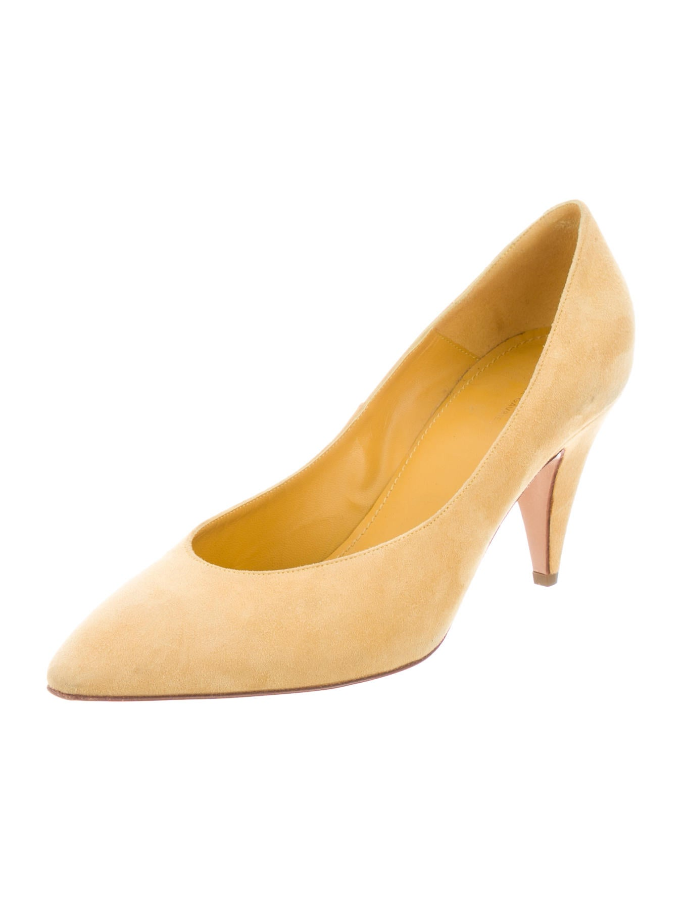 Mansur Gavriel Semi Pointed-Toe Leather Pumps cheap sale very cheap release dates cheap online HqhcwHGS