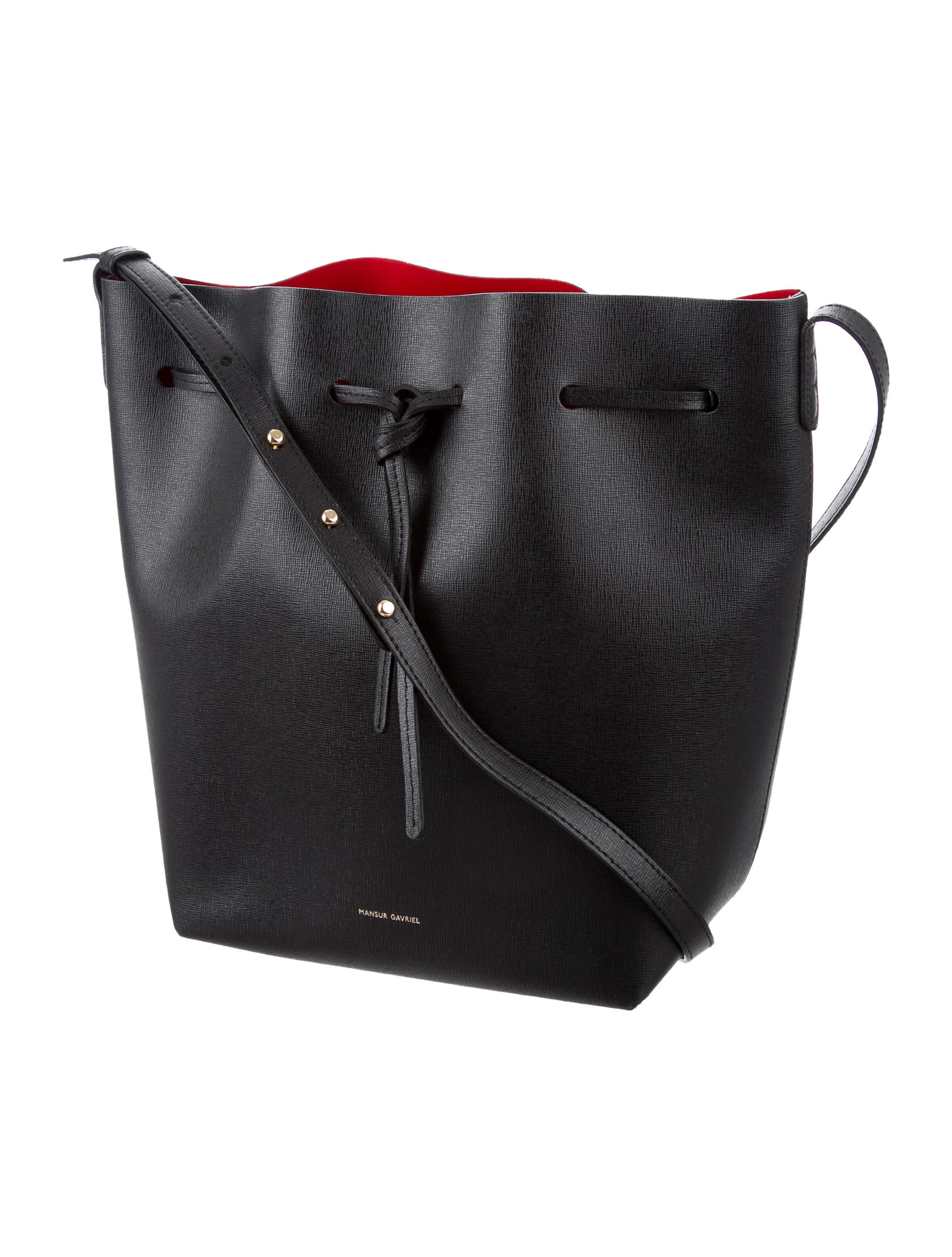 mansur gavriel saffiano bucket bag handbags wgy21589. Black Bedroom Furniture Sets. Home Design Ideas
