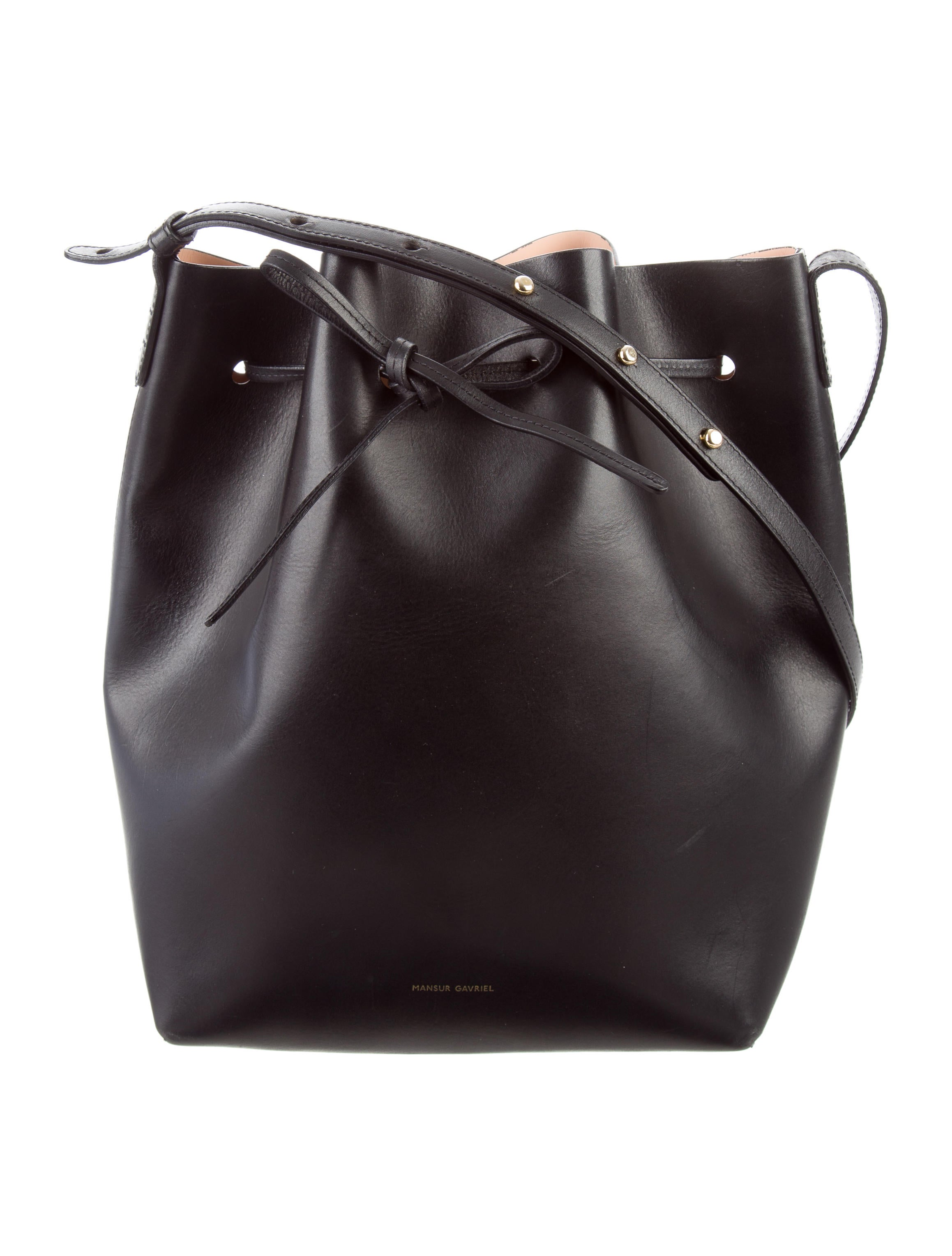 mansur gavriel bucket bag handbags wgy21864 the realreal. Black Bedroom Furniture Sets. Home Design Ideas