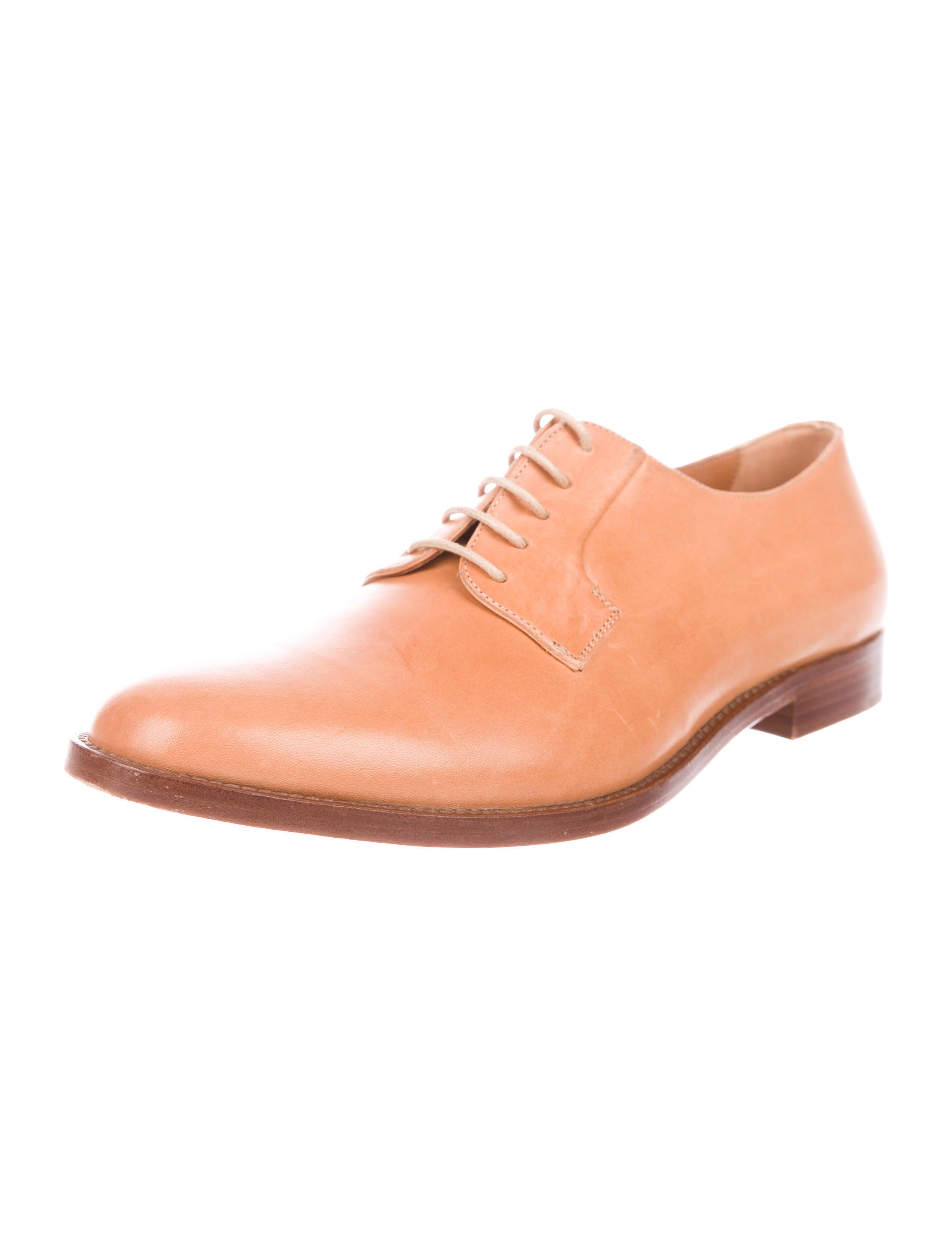 Mansur Gavriel Leather Round-Toe Oxfords for sale buy authentic online x4GZ9uKG