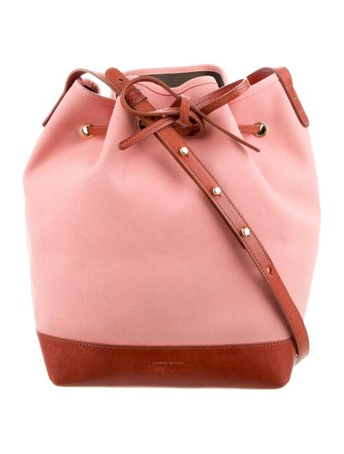 cabdf00060eb Mansur Gavriel Leather-Trimmed Bucket Bag - Handbags - WGY24316 ...