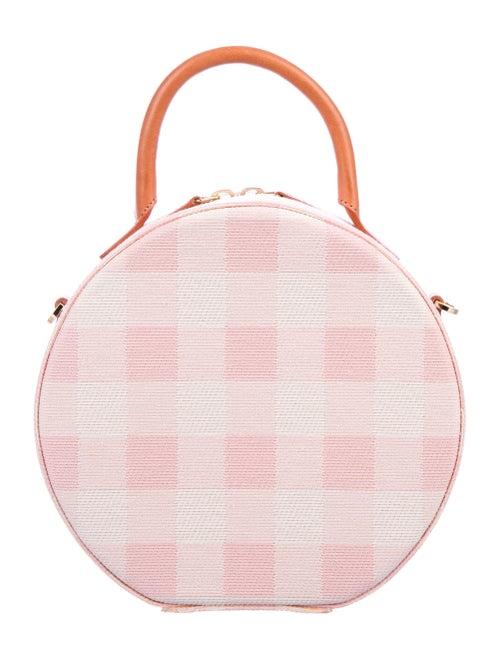 Mansur Gavriel Gingham Printed Circle Bag Pink