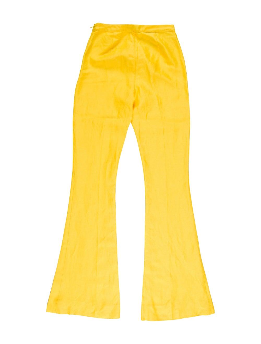 Mansur Gavriel Flared Pants w/ Tags Yellow - image 2