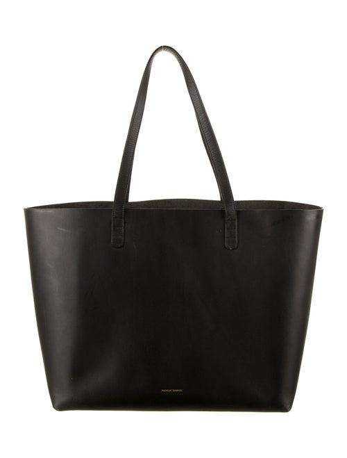Mansur Gavriel Leather Large Tote Black