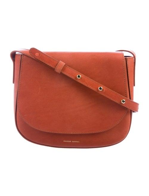 Mansur Gavriel Leather Crossbody Bag Brown