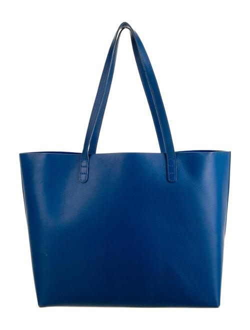 Mansur Gavriel Large Leather Tote Blue