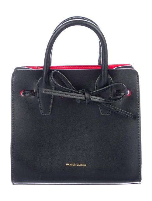 Mansur Gavriel Leather Mini Sun Bag Black