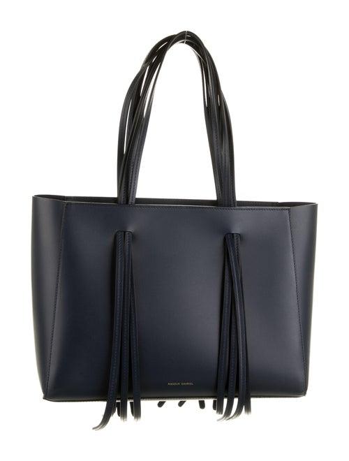Mansur Gavriel Leather Tote Bag Blue