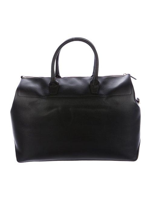 Mansur Gavriel Leather Travel Weekender Bag Black