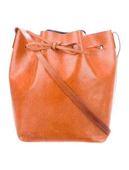 Mansur Gavriel Large Leather Bucket Bag Brown