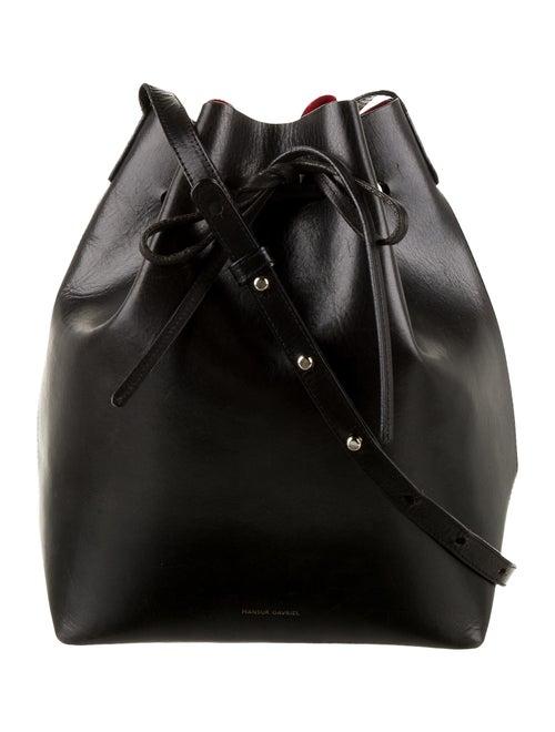 Mansur Gavriel Large Leather Bucket Bag Black
