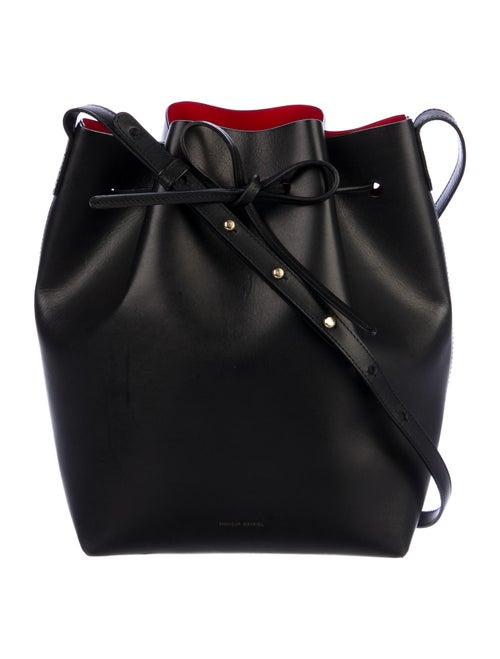 Mansur Gavriel Leather Bucket Bag Black