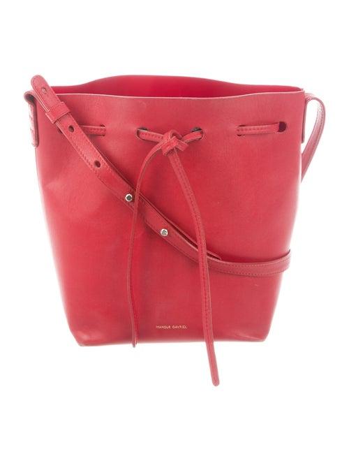 Mansur Gavriel Leather Bucket Bag Red
