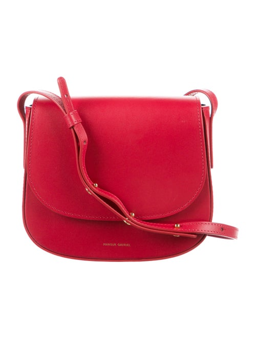 Mansur Gavriel Leather Crossbody Bag Red