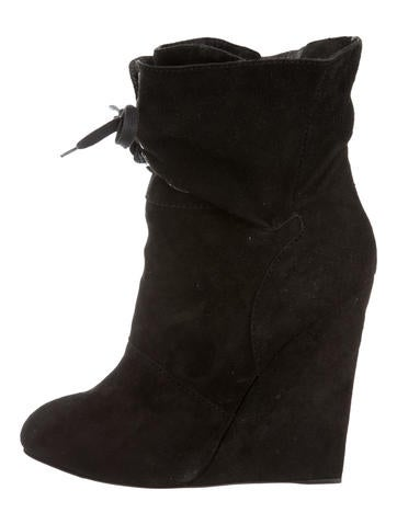 Guiseppe Zanotti x Thakoon Suede Wedge Booties