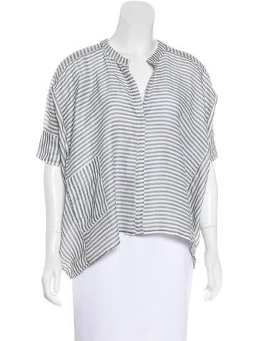 Humanoid Striped Dolman Sleeve Top None