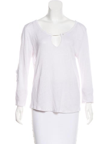 Linen Long Sleeve Top