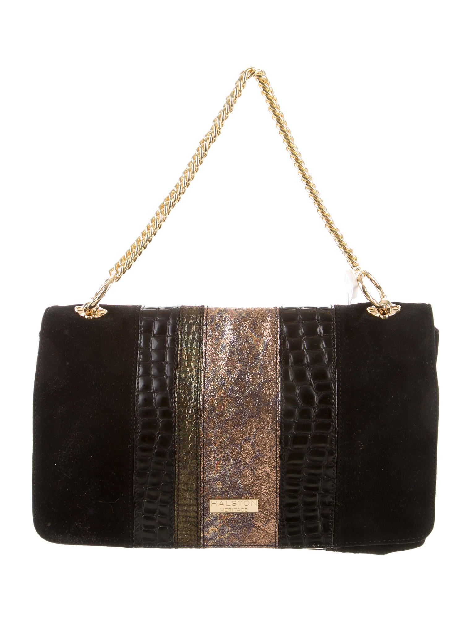 5cfc51cc7066 Halston Heritage Embossed Shoulder Bag w  Tags - Handbags - WH122119 ...
