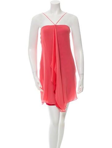 Halston Heritage Silk Draped Dress
