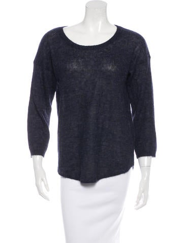 Halston Heritage Alpaca-Blend Long Sleeve Sweater None