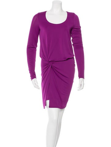 Halston Heritage Longsleeve Knotted Dress None
