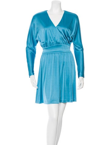 Halston Heritage Long Sleeve Flare Dress