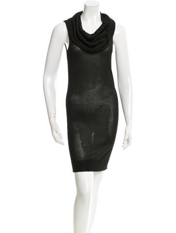 Halston Heritage Cowl Neck Knit Dress None