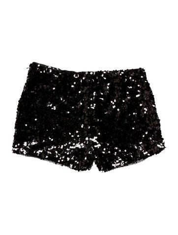 Sequined Mini Shorts