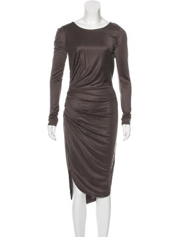 Halston Heritage Long Sleeve Ruched Dress w/ Tags None