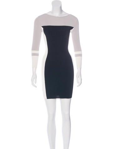 Halston Heritage Colorblock Bodycon Dress None