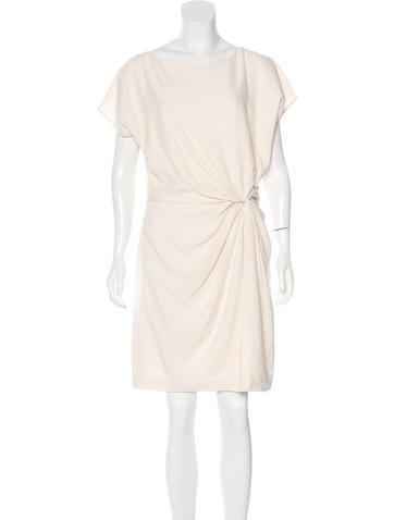 Halston Heritage Ruched Mini Dress None