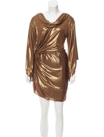 Halston Heritage Draped Mini Dress