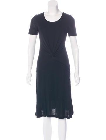 Halston Heritage Ruched Midi Dress None