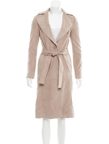Halston Heritage Belted Notch-Lapel Coat w/ Tags