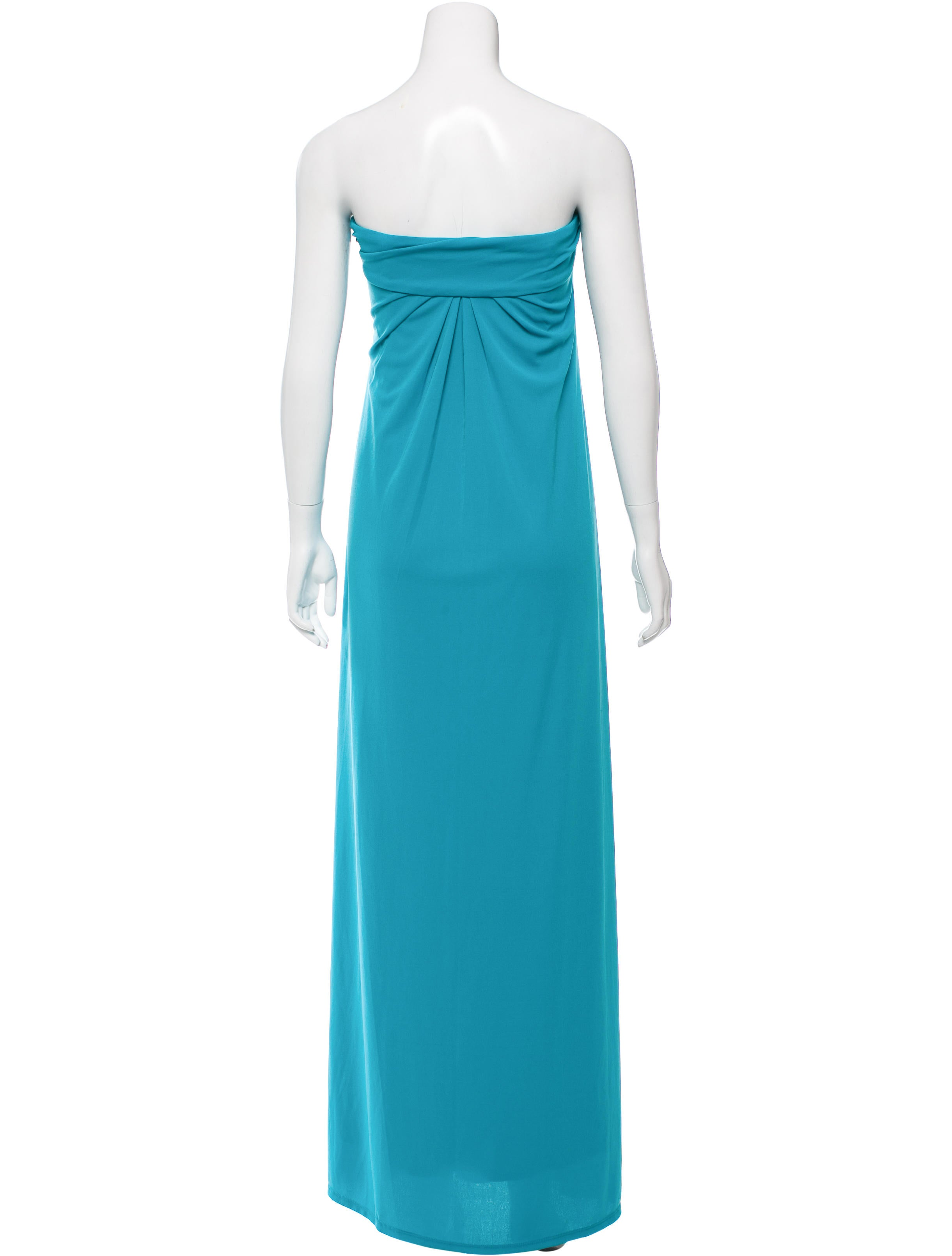 Halston heritage strapless maxi dress clothing for Halston heritage shirt dress