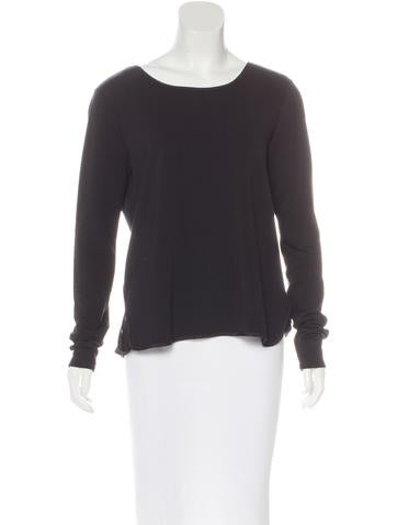 Halston Heritage Paneled Long Sleeve Top None
