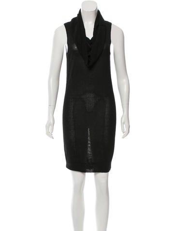 Halston Heritage Sleeveless Lurex Dress None