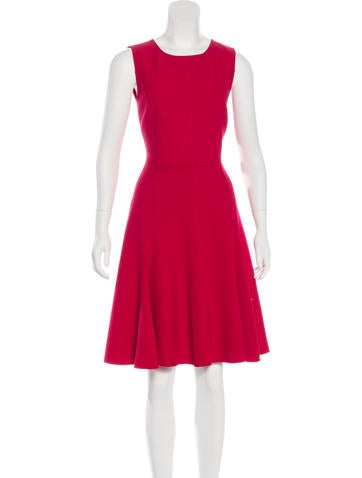 Halston Heritage Sleeveless A-Line Dress None