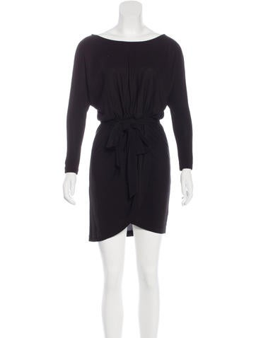 Halston Heritage Knee-Length Scoop Neck Dress None
