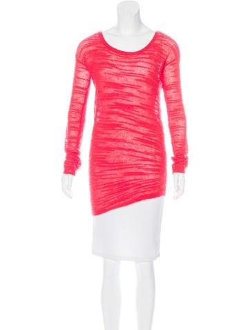 Halston Heritage Wool & Alpaca-Blend Asymmetrical Sweater None