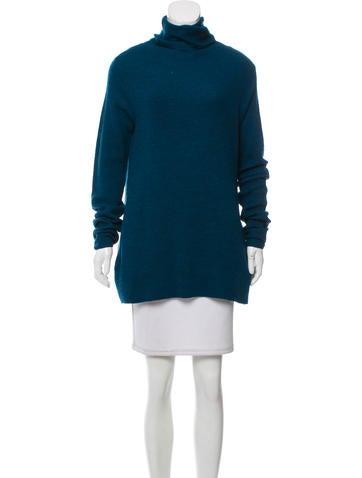 Halston Heritage Wool Turtleneck Sweater None