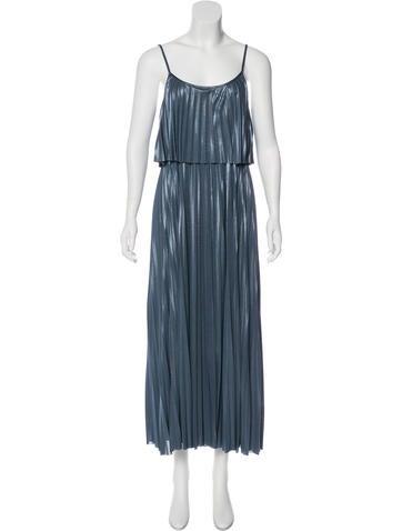 Halston Heritage Metallic Maxi Dress None