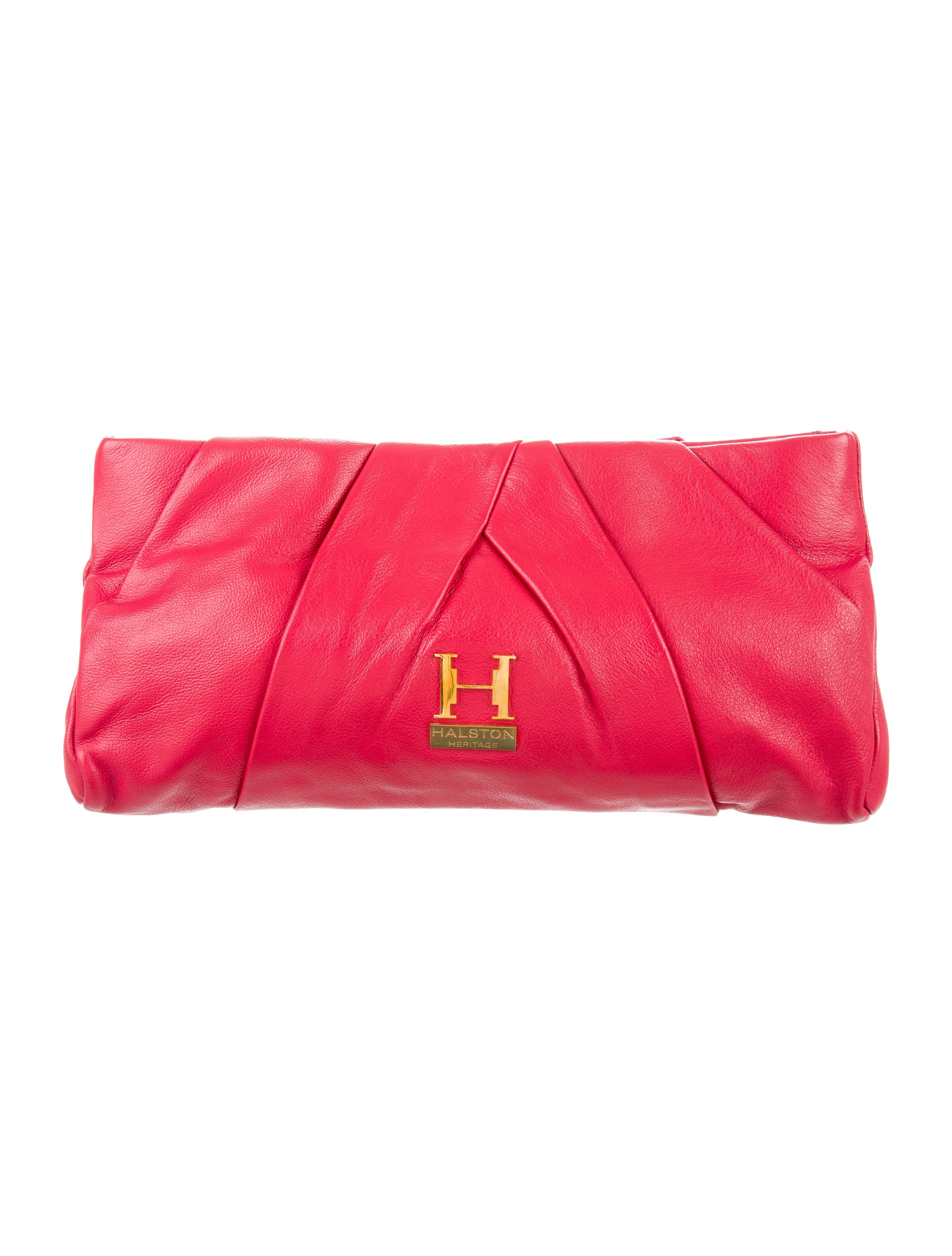Halston Heritage Pleated Alice Clutch - Handbags - WH126350  9c66d4fbdfbb8