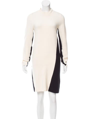 Halston Heritage Wool Long Sleeve Dress w/ Tags None
