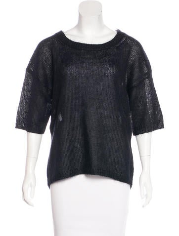 Halston Heritage Textured Knit Sweater None