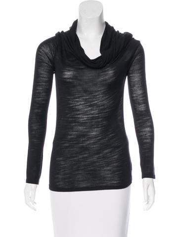 Halston Heritage Cowl-Neck Knit Top None