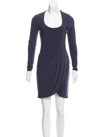 Halston Heritage Scoop Neck Mini Dress None