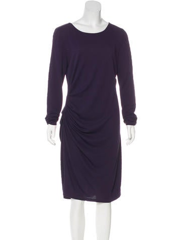 Halston Heritage Long Sleeve Knee-Length Dress None